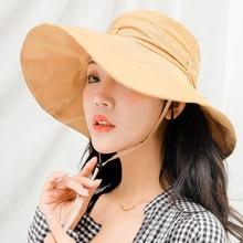 4b73461eaca HT2229 Women Sun Hats Ladies Cute Bow Spring Summer Big Wide Brim Hats  Solid Plain Hunting Fishing Hats for Women Fisherman Caps