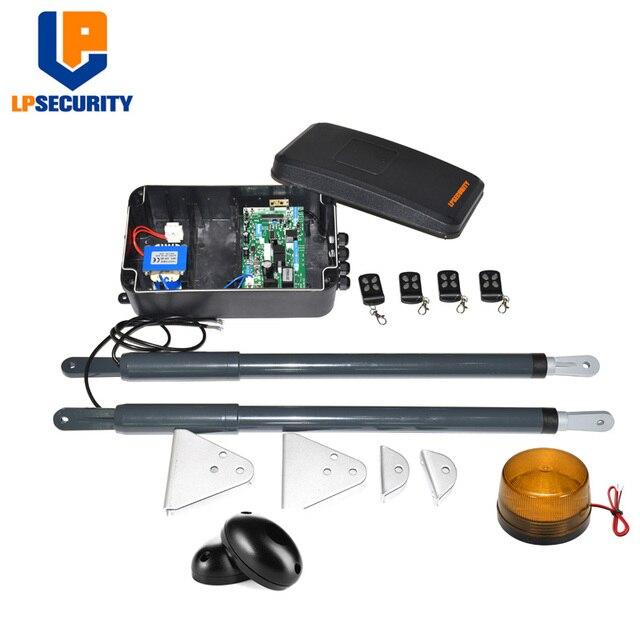Darmowa wysyłka wodoodporny elektryczny siłownik liniowy podwójne ramiona brama skrzydłowa silnik con GSM fotokomórki przycisk lampy opcjonalne