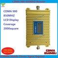 Função display LCD novo modelo CDMA 980, alto ganho CDMA 850 Mhz mobile phone signal booster, sinal GSM amplificador repetidor cdma
