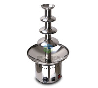 Free shipping Commercial use 4 Tiers Chocolate fountain , top quality with CE Export to Europe