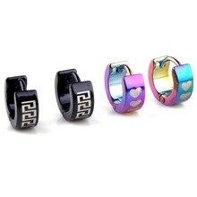 Wholesale 5 Pairs/lot Women/Men 316L Stainless Steel Hoop Earrings Unisex Hook Silver