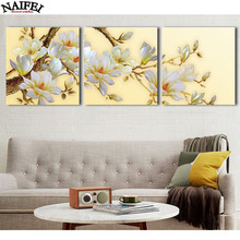 3pcs,diamond embroidery White Orchid Flower,5d diamond painting,full mosaic picture of rhinestones cross stitch gift