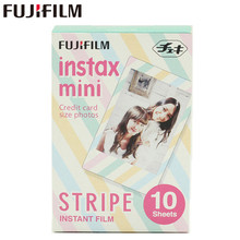 Оригинальный Fujifilm Fuji Instax Mini 8 в полоску Цвет принты фильм 10 листов для 8 50 s 7 s 90 25 Доля SP-1 мгновение камер новое поступление