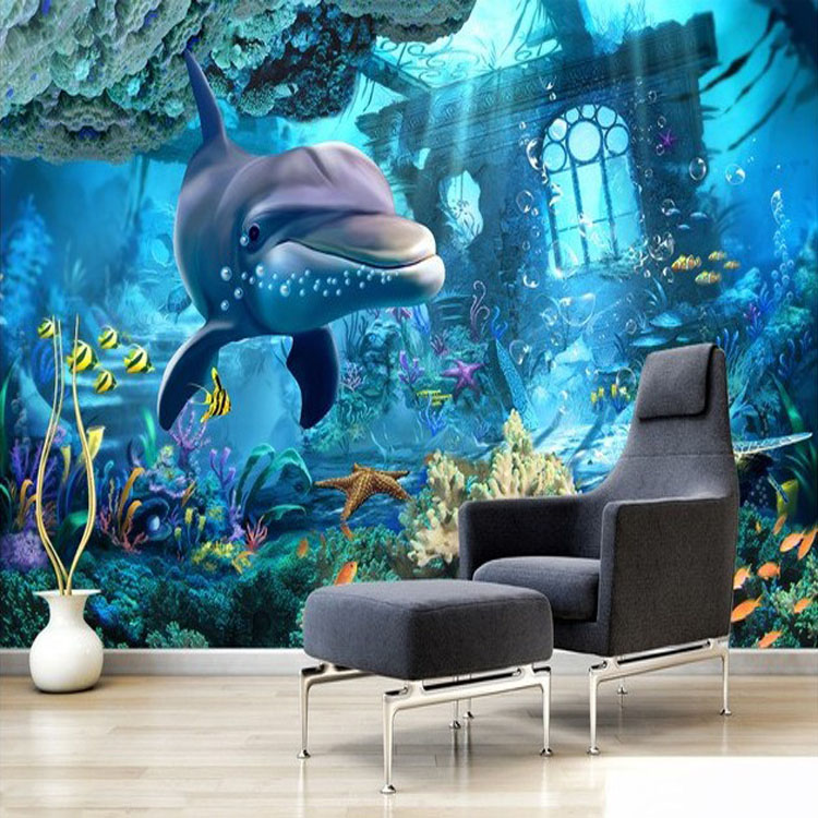 Buy 2016 hot sale 3d underwater world for Decor mural 3d