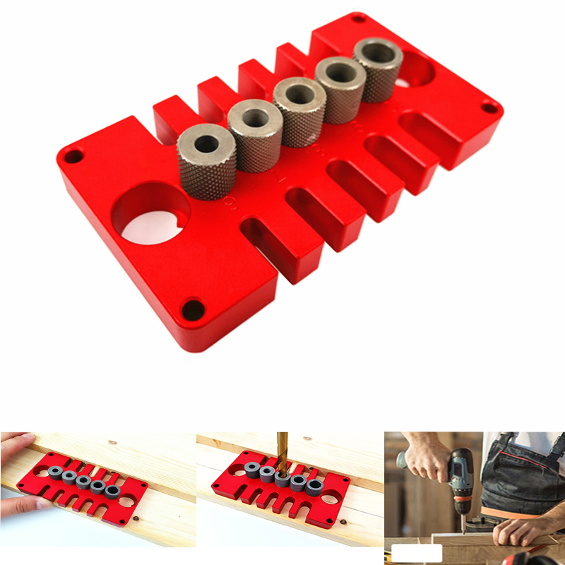 08650 Woodworking 3 In 1 Punch Locator Hole Opener Pocket Hole Jig Tenon Hole Doweling Jig Woodworking Puncher