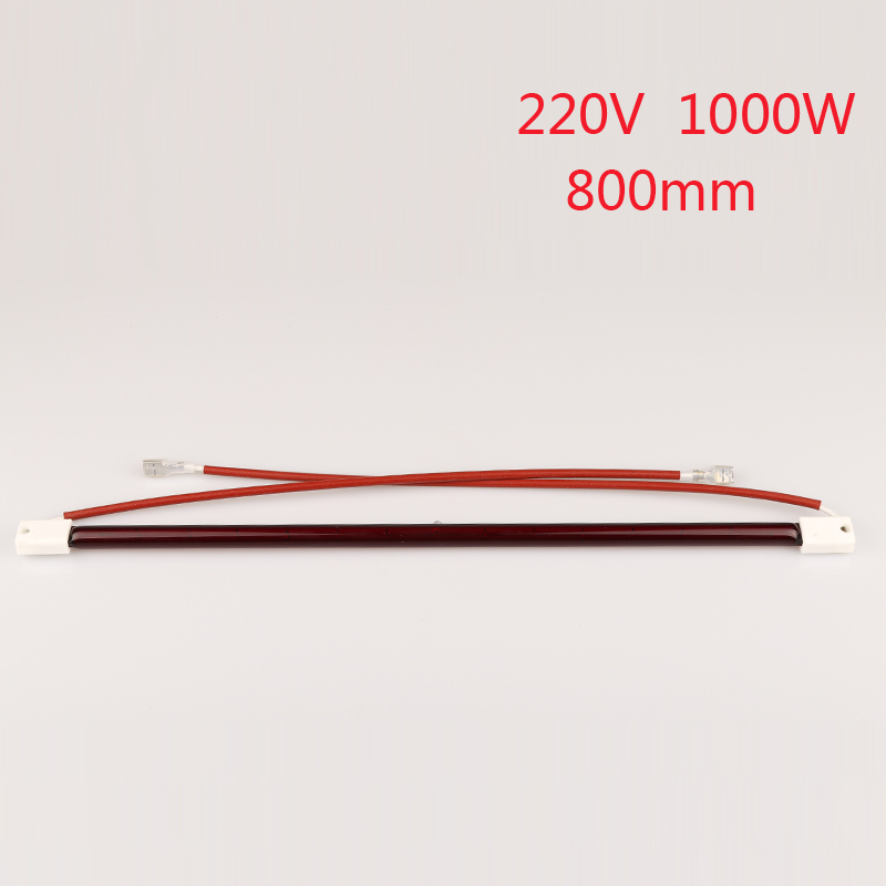 800mm 220V 1000W IR tube , ruby color halogen lamp, shoes machine infrared quartz element tz 8169 no nc flexible coil spring actuator limit switch for cnc mill plasma