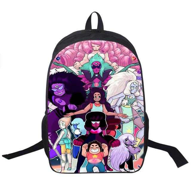 Steven Universo Mochila Para Meninos Das Meninas dos desenhos animados Crianças Mochilas Escolares Anime Gravity Falls Mochila Da Escola Dos Miúdos Mochilas Saco Do Presente