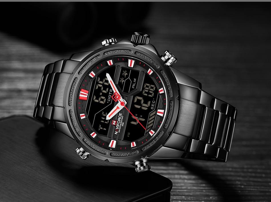 Top Luxury Brand NAVIFORCE Men Watches Military Waterproof LED Digital Sport Men's Clock Male Wrist Watch relogio masculino 8