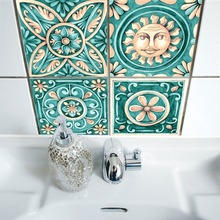 Italy Pattern Tiles Wall Stickers for Bathroom DecorationSelf- Adhesive Waterproof PVC TS001
