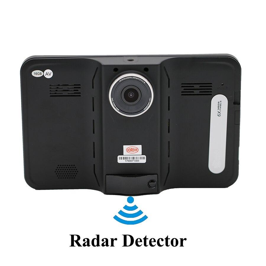 Udrive 7 Inch GPS Android WiFi Car Truck DVR AV IN 16GB Video Recorder GPS Navigation