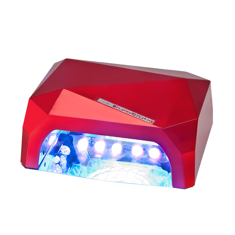 36W UV LED Nail Dryer 6 Colors Diamond Shaped UV Lamp LED Nail Lamp LED+CCFL  Bulb Curing For UV Gel Nail Polish Nail Art Tools In Hand Rests From Beauty  ...