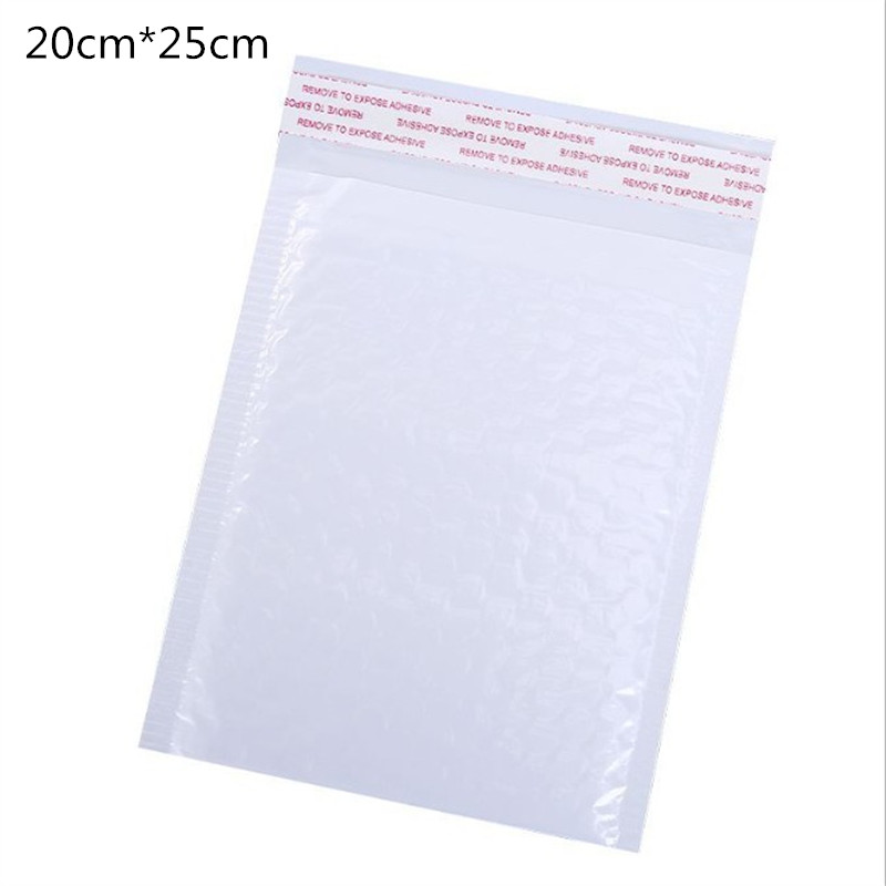 10 Pcs / Pack, 200*250mm Pearl White Usable Space Poly Bubble Mailer Envelopes Padded Mailing Bag Self Sealing(China)