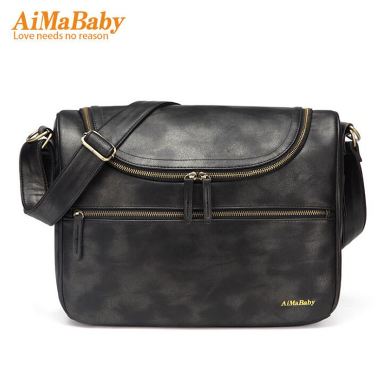 AIMABABY baby changing nappy diaper stroller messenger bag for mom Organizer Mother Maternity Bags with Changing Mat aimababy 2017 new pu designer baby diaper nappy changing mummy maternity bag organizer bags for mom backpack bolsa maternidade