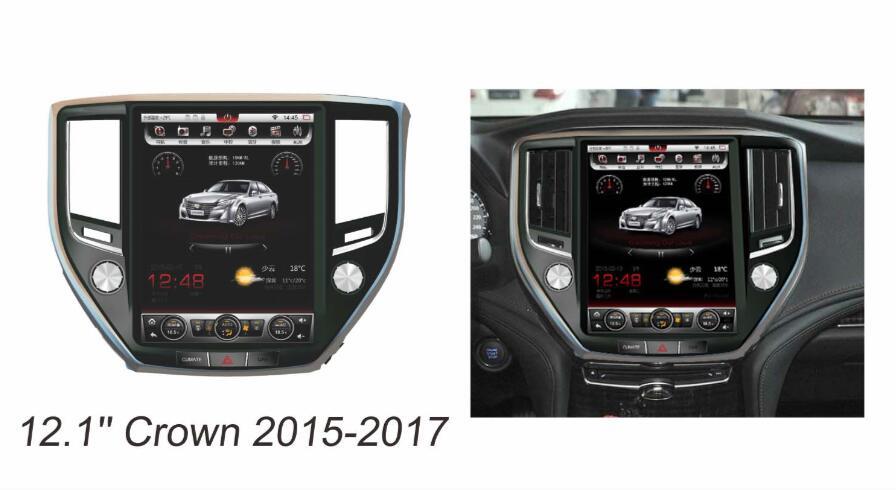 Otojeta Vertical 12.1 Quad Core Android 6.0 2gb ram Car DVD GPS OBD Radio For Toyota crown 2015 2017 Multimedia stereo headunit