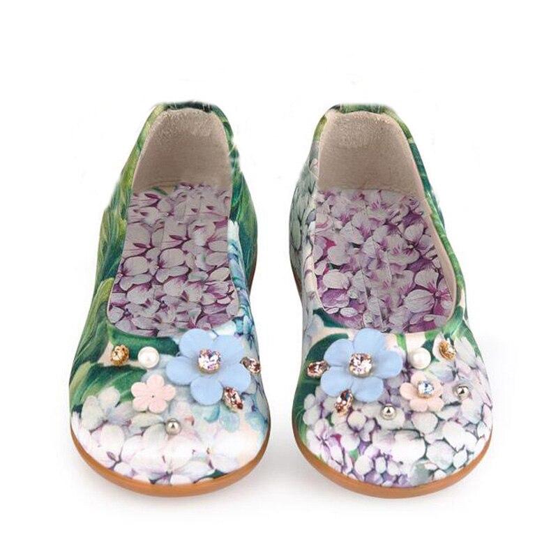 Обувь для детей Tenis Infantil Обувь для девочек принцесса Обувь с ручной работы Стразы маленьких Обувь для девочек один ortensia Обувь Chaussure Enfant ...