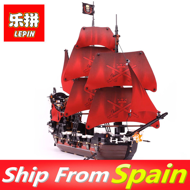 Lepin 16009 Building Blocks 1151pcs Queen Anne's revenge Pirates of the Caribbean Bricks Legoing 4195 toys for Kids Gift lepin 16009 caribbean blackbeard queen anne s revenge mini bricks set sale pirates of the building blocks toys for kids gift