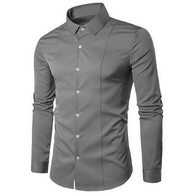 Oeak Men's Formal Shirts Fit Dress Shirts
