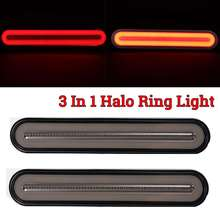 3 in 1 Neon LED Rimorchio del Camion Luce di Freno Impermeabile Coda del Freno di Arresto Luce Che Scorre Segnale di Girata Lampada 12 24V