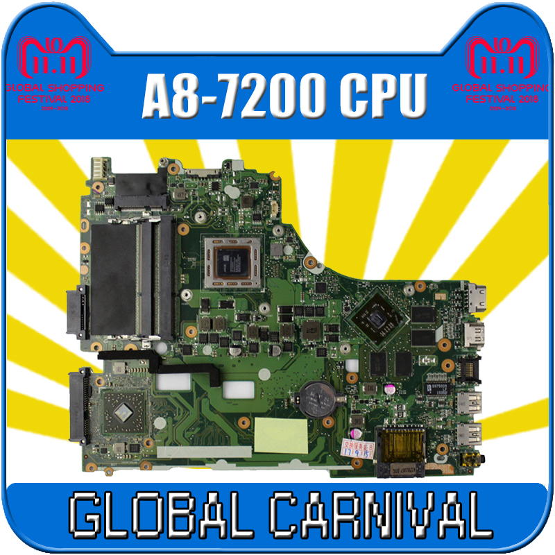 X550ZE motherboard A8-7200 LVDS interface For ASUS VM590Z X550ZE K555Z A555Z X555Z K550Z laptop motherboard X550ZE mainboard doomagic bee style cotton baby romper black yellow