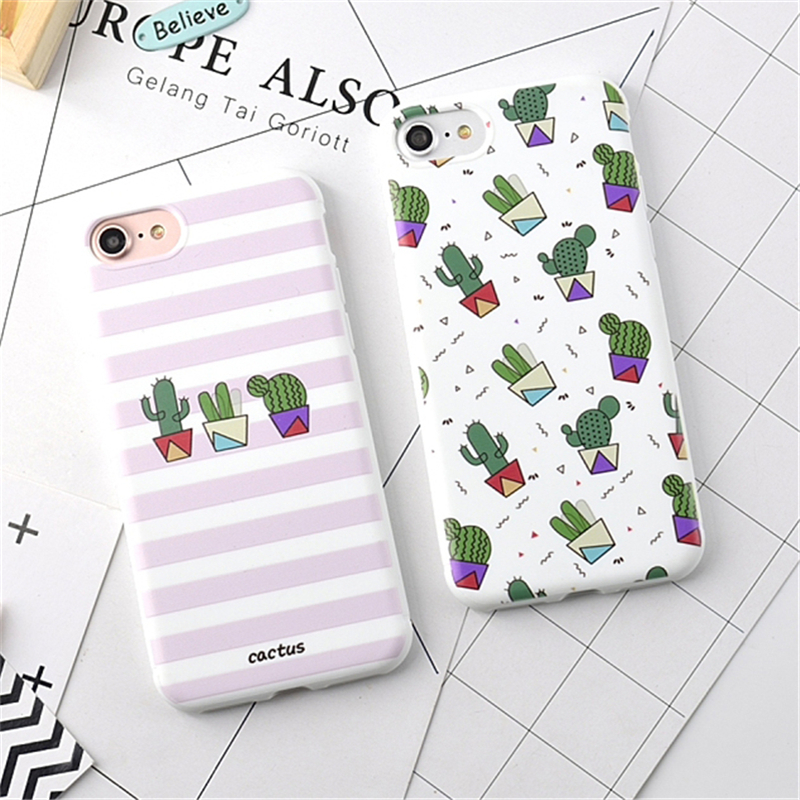 Hot Fruits Flower Cactus 3D Relief Silicone Case Cover For iPhone 7 6 6s Plus Rubber Soft Phone Cases for iphone7 6 Fundas