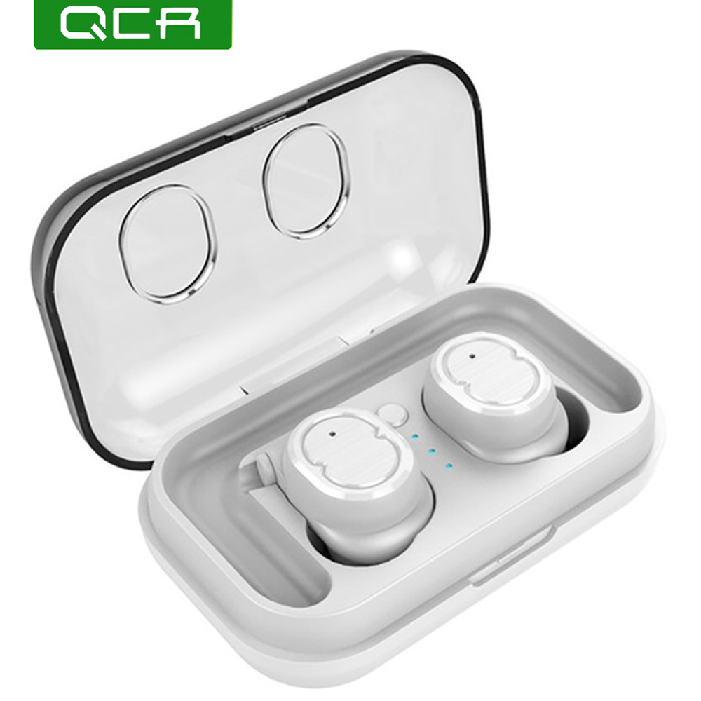 QCR TWS 8 Wireless Bluetooth 5 0 Earphone Headset Touch Control True Earbuds Bass Stereo 6D