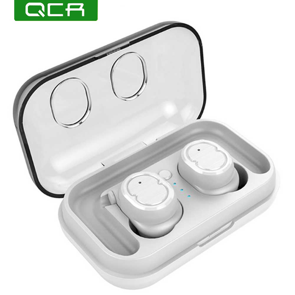 QCR TWS-8 Wireless Bluetooth 5.0 Earphone Headset Touch Control True Earbuds Bass Stereo 6D Headset With Charging Box