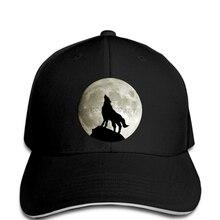 288318de6fdac Lobo que grita en la Luna Tribal clásico Mens nueva novedad negro cap  hombres verano hombres gorra de béisbol
