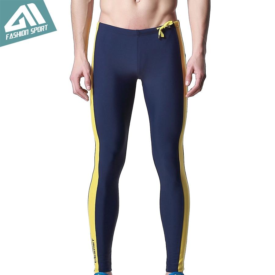 DESMIIT Men's Long Swimwear Triathlon Tights Fitness Swimming Pants Gym Running Biking Exercise Yogo Workout Pants for Men DT24