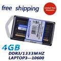 KEMBONA Ram memoria DDR3 4 gb 1333 PC10600 sodimm pour ordinateur portable compatible pour intel