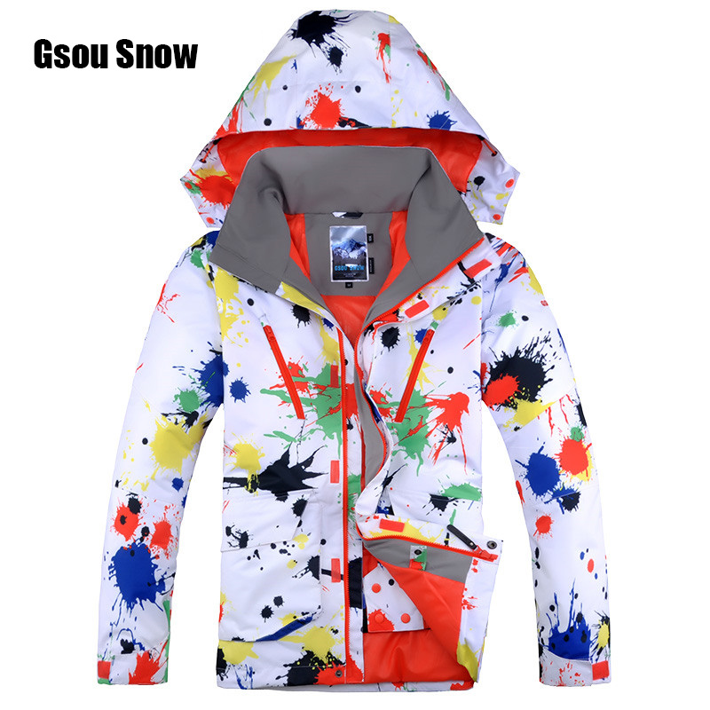 00bd8506c1 2018 New Gsou Snow Snowboard Jacket for Men Male Waterproof Windproof  Breathable Skiing Jacket Winter Soft Cotton Warm Jacket
