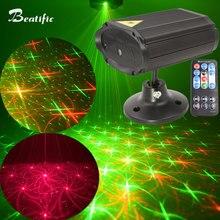 Мини звук вечерние лазерный проектор танец диско свет и музыкальное оборудование звуковые огни Lumiere 8 моделей двойной цвет DC5V
