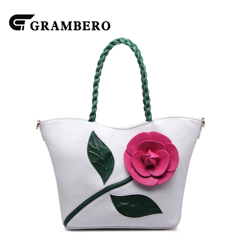 Fashion Women Handbag Large Capacity Vintage Top-handle Bags PU Leather Flower National Style Shoulder Bag Gifts Crossbody Bag women bag set top handle big capacity female tassel handbag fashion shoulder bag purse ladies pu leather crossbody bag