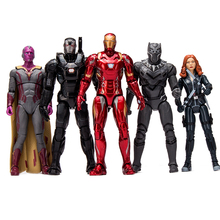 Marvel Amazing Ultimate Spiderman Captain America Iron Man PVC Action Figure Collectible Model Toy for Kids Children's Toys стоимость