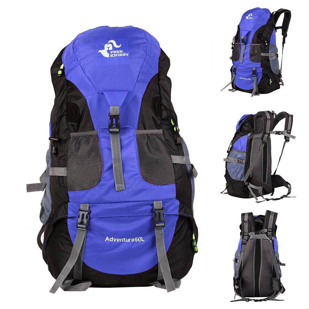 50L открытый рюкзак альпинистская горная походная бейсболка для езды и походов дорожная водонепроницаемая сумка мужской рюкзак; спортивная сумка - Цвет: Blue