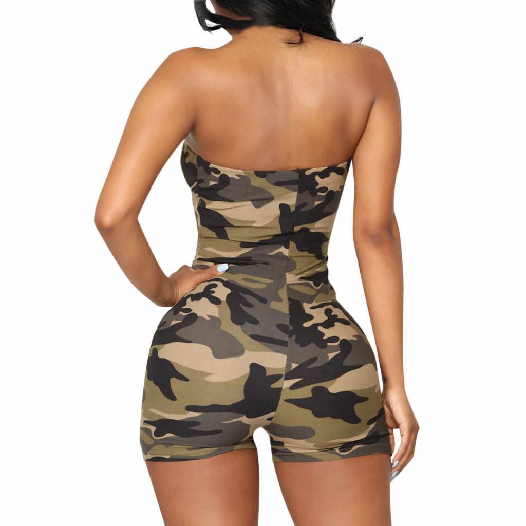 Женское летнее платье 2019 Повседневная Женская Клубная одежда праздничные брюки мини комбинезон пляжные шорты комбинезон с коротким рукавом Boho