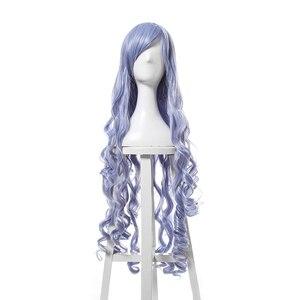 Парик L-email, 40 дюймов, 100 см, длинные, волнистые, черные, красные, коричневые, белые, синтетические волосы, перукасы, карнавальный парик