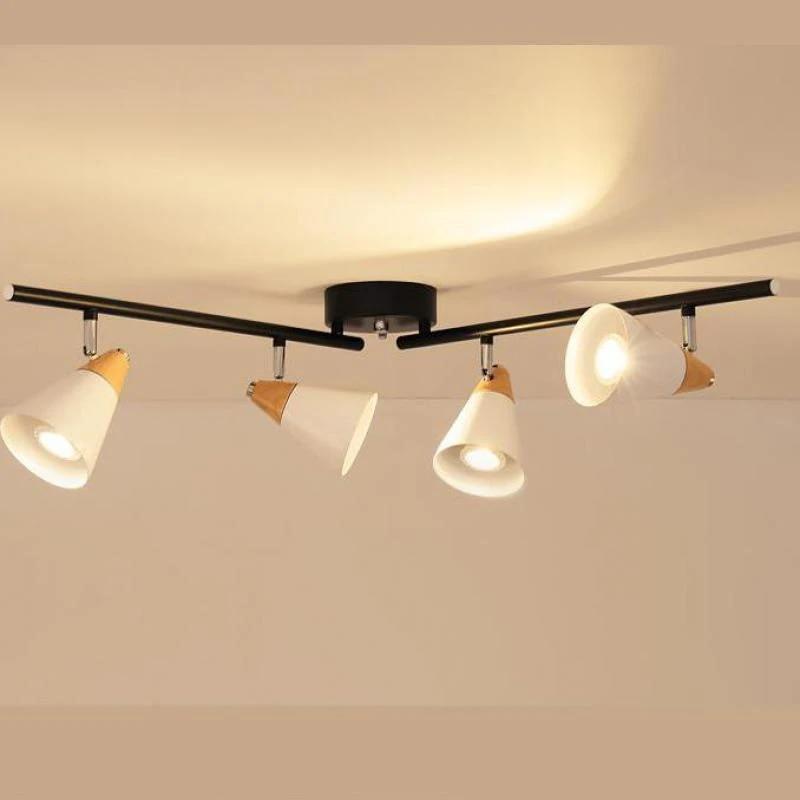 nordic home office led spotlights modern track lighting clothing store wall led track lamp corridor bar decoration home lighting