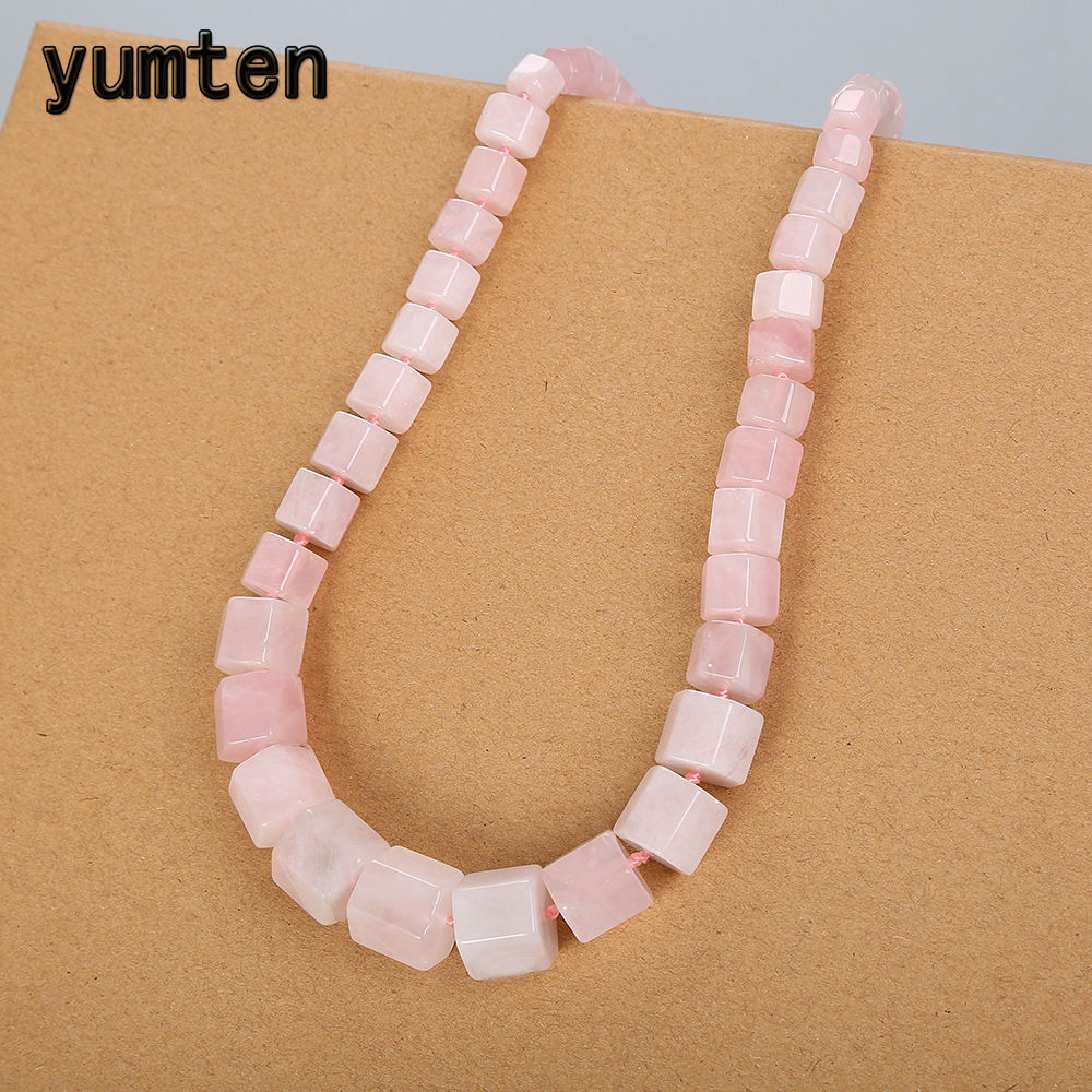 Yumten Rose Quartz Necklace Women Diamond Statement Natural Stone Gemstone Power Crystal Party Decoration Clearns Fine JewelryYumten Rose Quartz Necklace Women Diamond Statement Natural Stone Gemstone Power Crystal Party Decoration Clearns Fine Jewelry