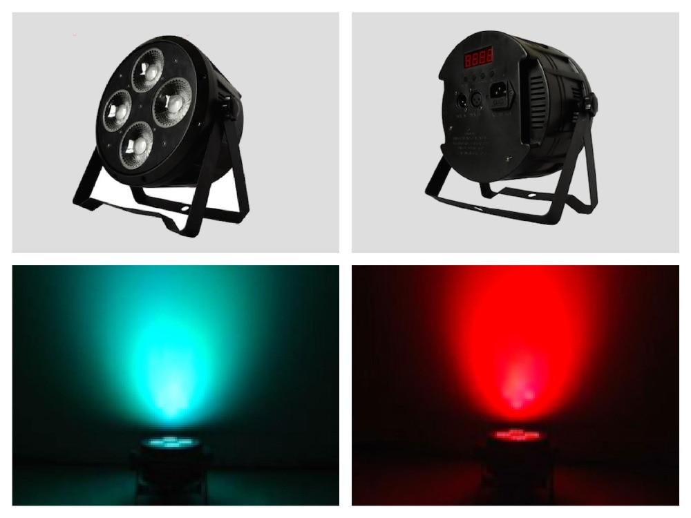 ФОТО 10pcs/Lot, 4x30W COB LED Par light RGB Super Bright Module LED Stage lights wall wash DJ home party disco led wash lighting DMX