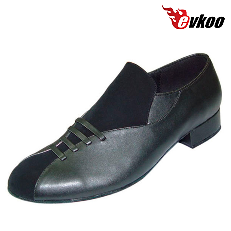 ФОТО 2016 Special Design  Modern Ballroom Dance Shoes For Man Nubuck With Genuine Leather Shoes Evkoo-310