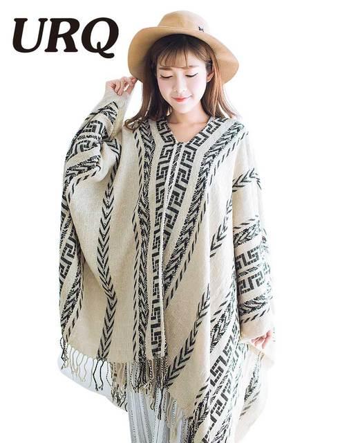 geometry web red winter poncho tassel shawl stole pashmina women wrap scarf soft girl cape fashionable warm poncho wool 2016