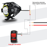 2x 125W U7 Store Motorcycle Angel Eyes Headlight DRL spotlights auxiliary bright LED bicycle lamp accessories car work Fog light 2