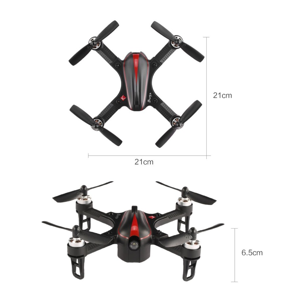 MJX B3 RC Mini 2.4GH 4CH Borstelloze 1306 2750KV Motor Drone Hoek en Acro Modus Flip & Roll RC Quadcopter met LED Licht - 6