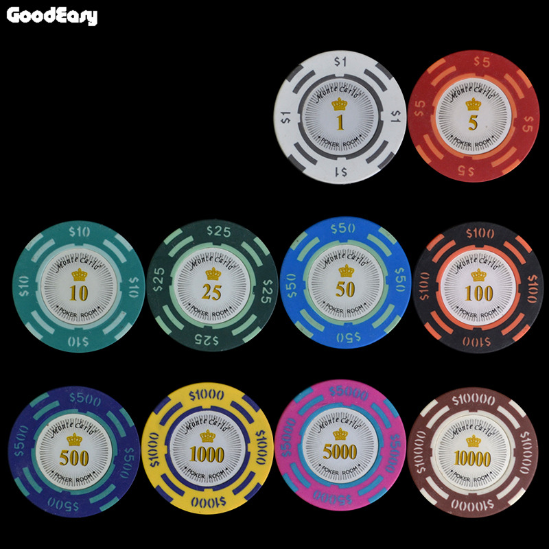 Casino chip clay dollar poker gambling logs