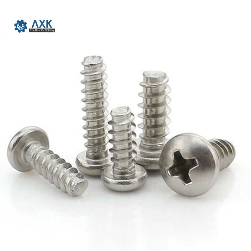 100pcs/lot LF02-SZ102 304 stainless steel Phillips head flat tapping <font><b>screw</b></font> PB M2 M2.3 <font><b>M2.6</b></font> Pan head <font><b>screws</b></font> image