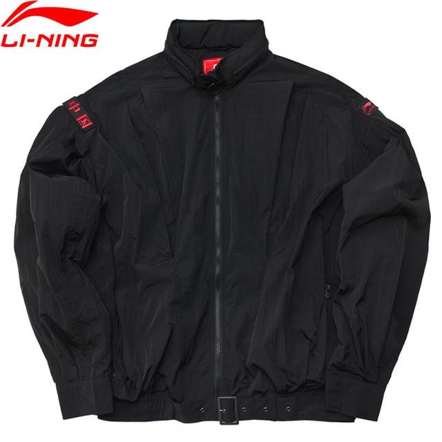 Li-Ning Unisex PFW Sports Jacket Loose Fit Nylon Hooded Printing CHINA LiNing Windproof Comfort Sport Coat AJDP019 MWJ2608