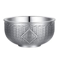 New Arrival Sterling Silver Bowl Heavy Gold 245g With certificate