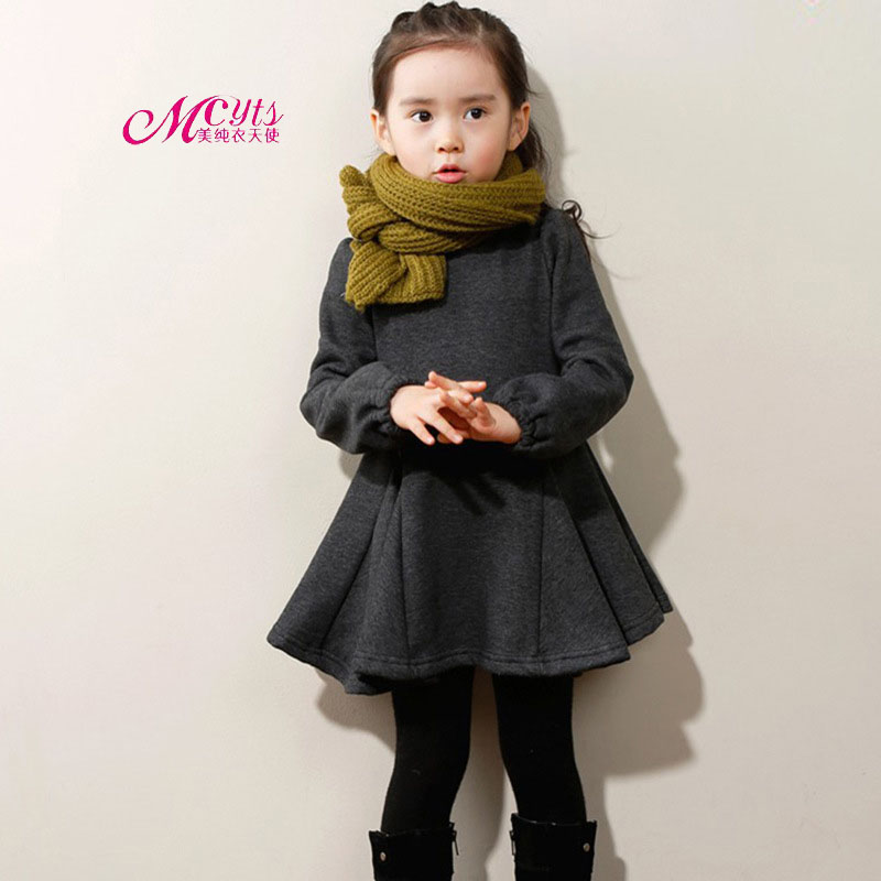 New Autumn Winter Baby Girls Thicken Princess Dress Fashion Infant Long Sleeve Dresses for Girls Kids Clothes 3 4 5 6 7 8 Years леднева е целуева е худ маша и медведь