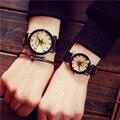 Feitong Pareja Amantes Relojes de Moda Casual Hombres de Las Mujeres Viste el Reloj de LA PU Correa de Cuero de Cuarzo Reloj de pulsera Relojes relogio masculino