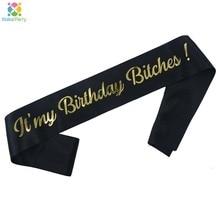 Złota brokatowa to moje urodziny suki śmieszne urodziny szarfy dla kobiet 30. 40. Materiały do dekoracji przyjęcia urodzinowego prezenty